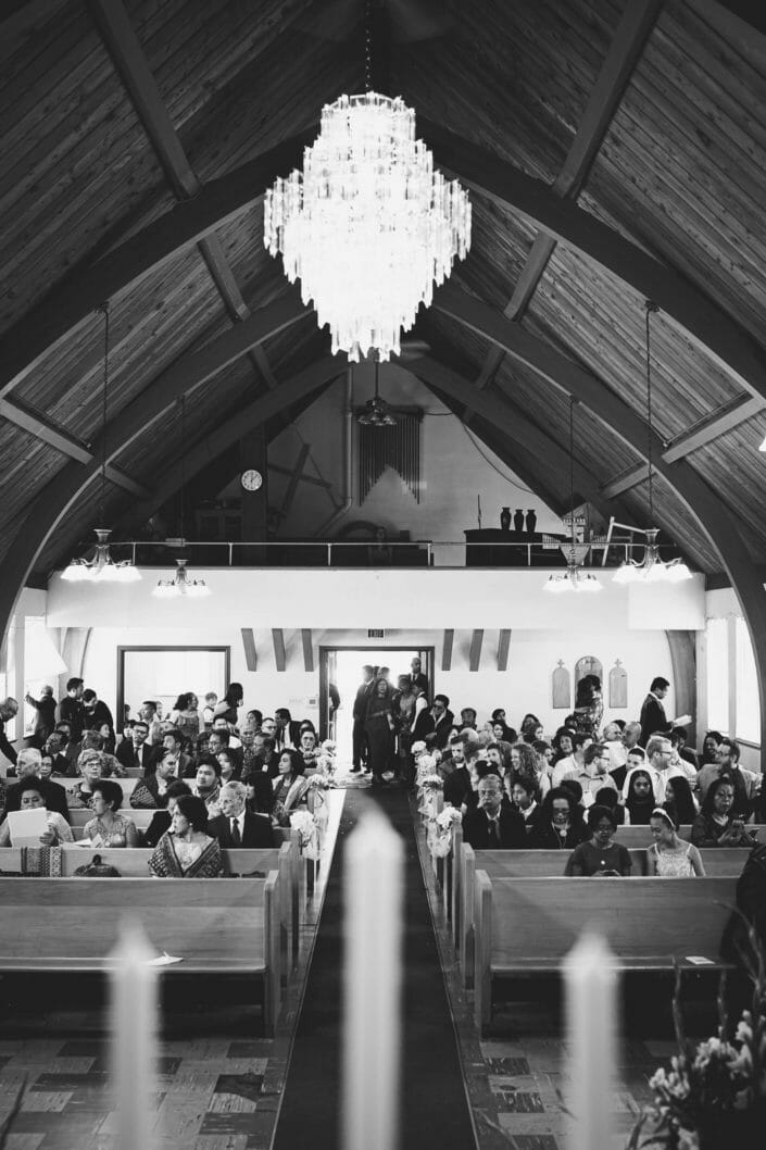 Wedding Church in black and white