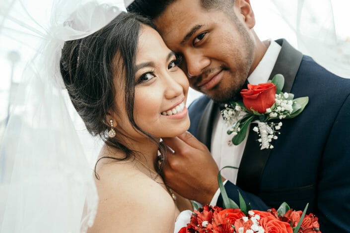 Wedding Photography - Indonesian Bride and Groom at Union Station in Denver, Colorado