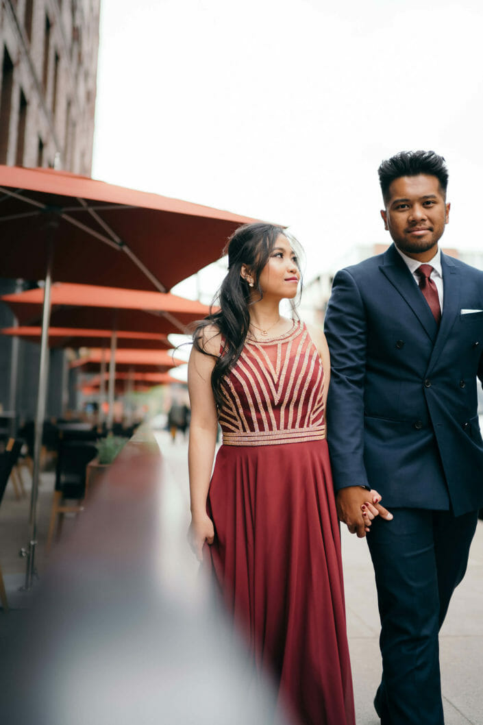 Engagement shoot at Union Station in Denver, Colorado