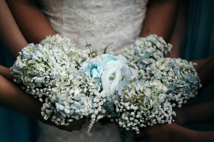 Wedding Details - Bride and bride's maid's bouquets