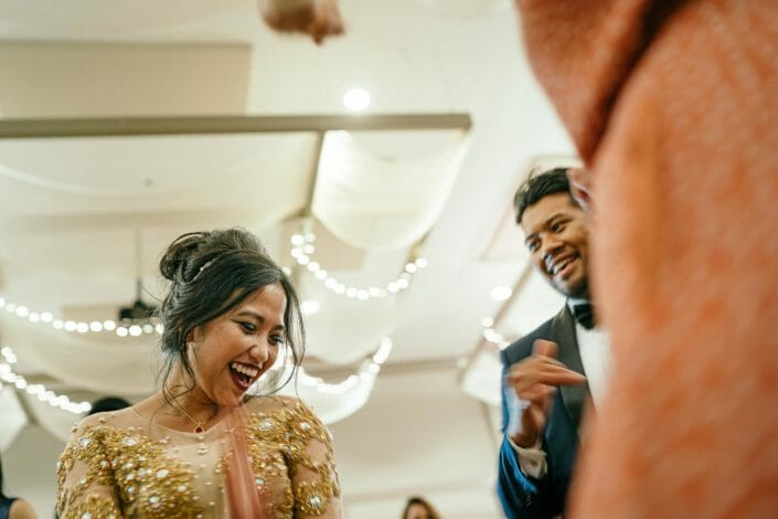 Candid Wedding Photo in Denver - Indonesian Bride and Groom