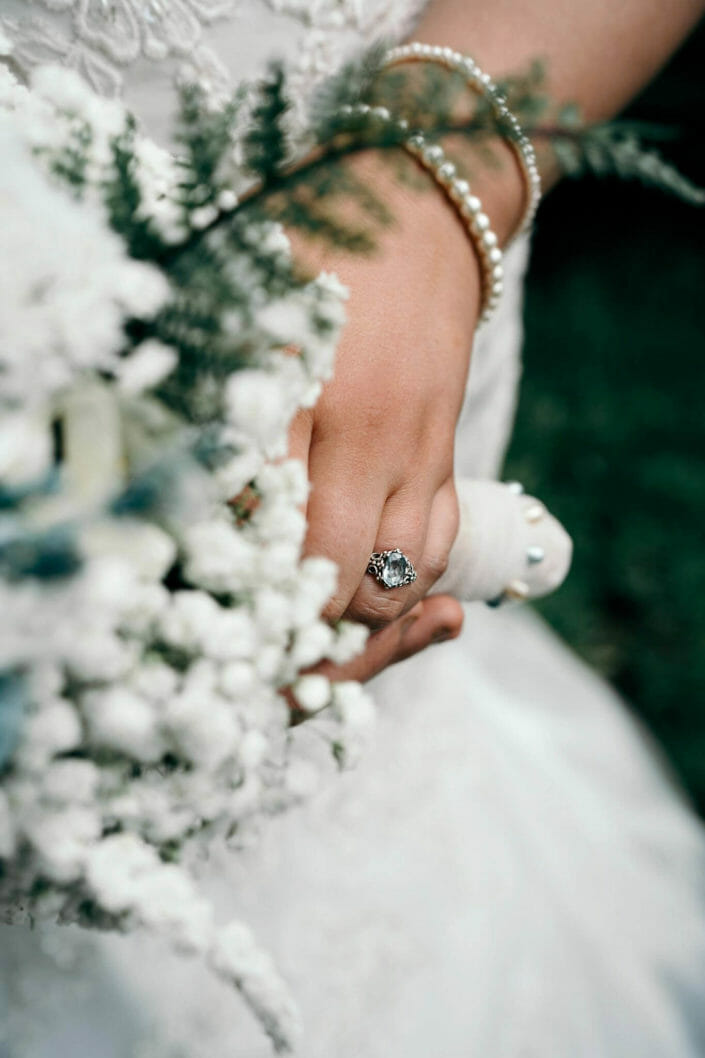 Wedding Details - Bride's ring and bouquet