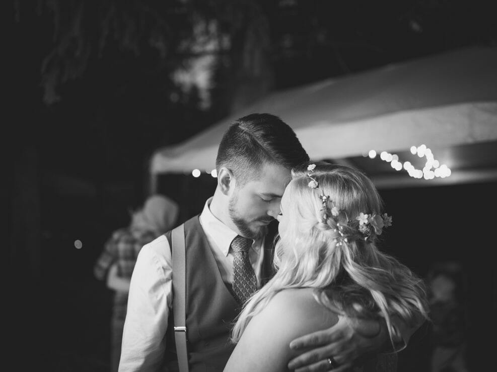 Bride and Groom Dancing - Candid