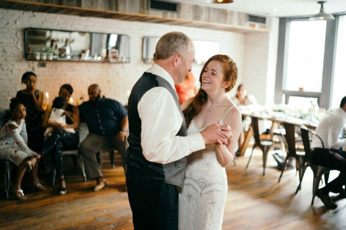 Biracial Couple Wedding - Father Daughter Dance